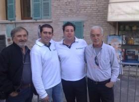 Armando Siviero, gennaro Ruffolo , Mirko Azzalin e il Padre Fili