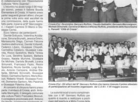 Il M° Gennaro Ruffolo alla prima manifestazione organizzata dalla sua scuola Luciano Fancelli insieme a personaggi di spicco del mondo fisarmonicistico come per esempio Claudio Sabbatini della Musictech, Gervasio Marcosignori e Carmine Di Marco.