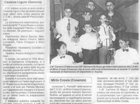 Il Maestro con alcuni allievi e Carmine Di Marco.