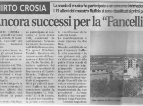 Le imprese della scuola Luciano Fancelli e altre vittorie del giovanissimo Ruffolo.